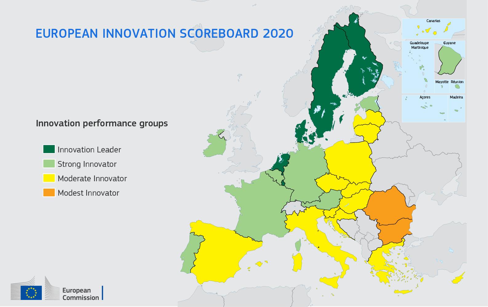 Il quadro di valutazione europeo dell'innovazione 2020