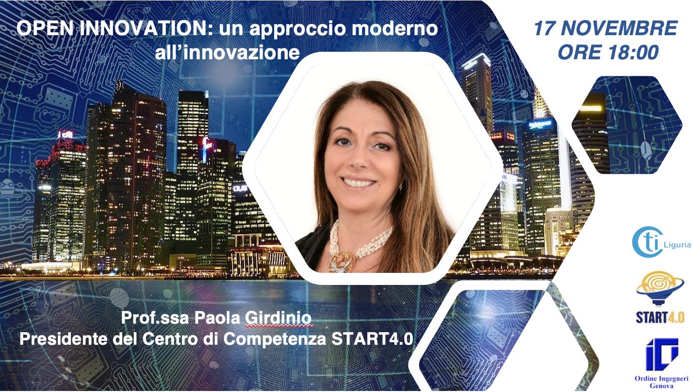 OPEN INNOVATION: un approccio moderno all'innovazione – 17 novembre 2020