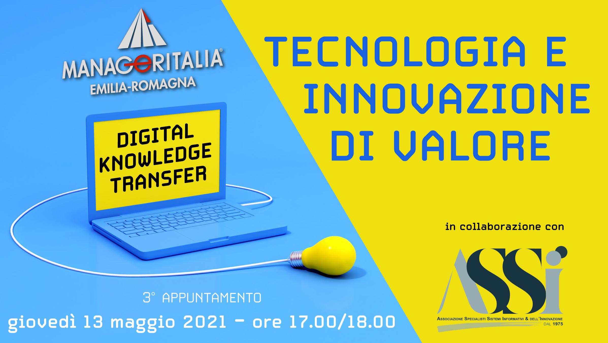 Webinar 13/5: Tecnologia e Innovazione di Valore