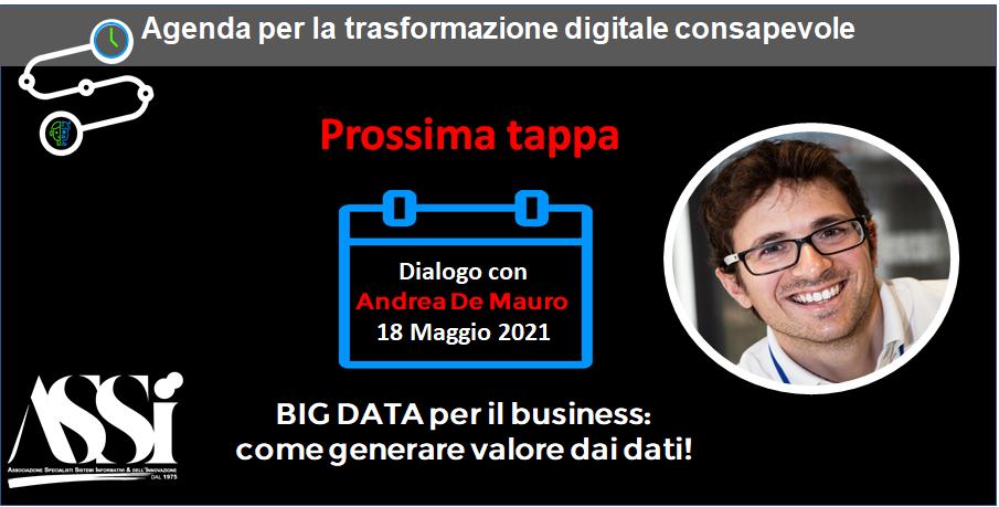 Webinar 18/5: BIG DATA per il business:  come generare valore dai dati !